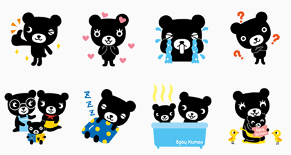 Kurokuma-kun | 949 Line Sticker GIF & PNG Pack: Animated & Transparent No Background | WhatsApp Sticker