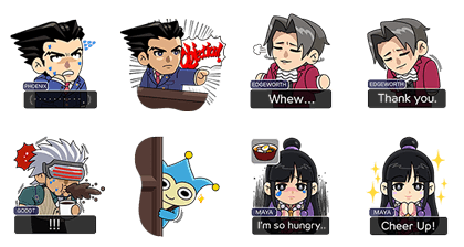 LINE Rangers × Ace Attorney Line Sticker GIF & PNG Pack: Animated & Transparent No Background | WhatsApp Sticker