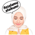 Laudya Cynthia Bella's Pure Heart Sticker for LINE & WhatsApp | ZIP: GIF & PNG