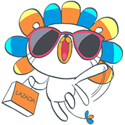 Laz: The Happy Lion Sticker for LINE & WhatsApp | ZIP: GIF & PNG