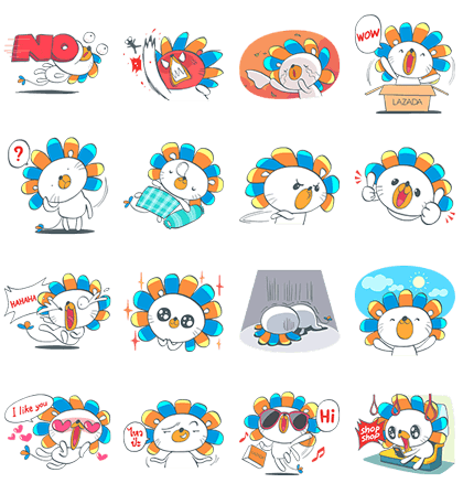 Laz: The Happy Lion Line Sticker GIF & PNG Pack: Animated & Transparent No Background | WhatsApp Sticker