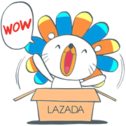 Laz, the Lion Invades LINE Sticker for LINE & WhatsApp | ZIP: GIF & PNG