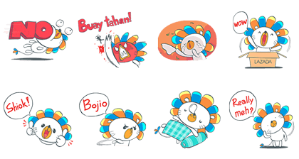 Lazadaʹs LINE Mascot! Line Sticker GIF & PNG Pack: Animated & Transparent No Background | WhatsApp Sticker