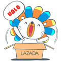 Lazada Indonesia Sticker for LINE & WhatsApp | ZIP: GIF & PNG