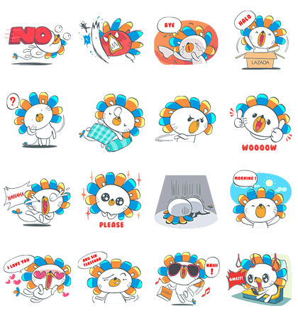 Lazada Indonesia Line Sticker GIF & PNG Pack: Animated & Transparent No Background | WhatsApp Sticker