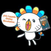 Lazada Online Revolution Sticker for LINE & WhatsApp | ZIP: GIF & PNG