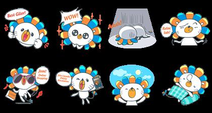 Lazada Online Revolution Line Sticker GIF & PNG Pack: Animated & Transparent No Background | WhatsApp Sticker