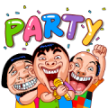 Let's Party (Samran Man) Sticker for LINE & WhatsApp | ZIP: GIF & PNG