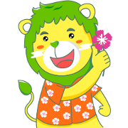 Lion-kun : Let's splash happiness! Sticker for LINE & WhatsApp | ZIP: GIF & PNG