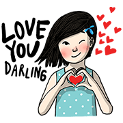 Love You Like Crazy Sticker for LINE & WhatsApp | ZIP: GIF & PNG