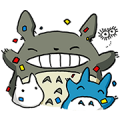 My Neighbor Totoro Sticker for LINE & WhatsApp | ZIP: GIF & PNG