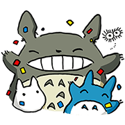 My Neighbor Totoro Sticker for LINE & WhatsApp   ZIP: GIF & PNG