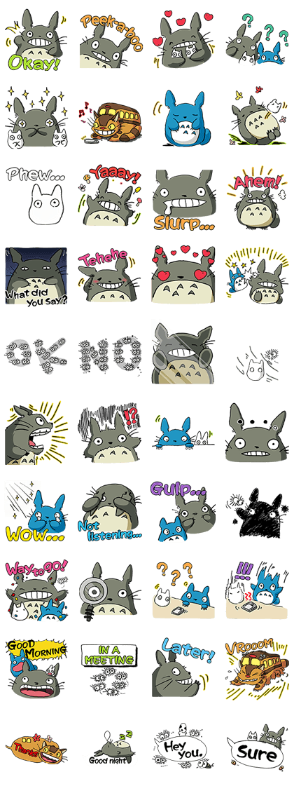 My Neighbor Totoro (PAID ver.) Line Sticker GIF & PNG Pack: Animated & Transparent No Background   WhatsApp Sticker
