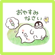 Penguin and Cat Days Friendly Greetings Sticker for LINE & WhatsApp | ZIP: GIF & PNG