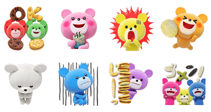 Petit Kuma: Back for More! Line Sticker GIF & PNG Pack: Animated & Transparent No Background   WhatsApp Sticker