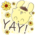 Pompompurin Big Stickers Sticker for LINE & WhatsApp | ZIP: GIF & PNG
