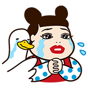 Popular Celebs × Aflac Sticker for LINE & WhatsApp | ZIP: GIF & PNG