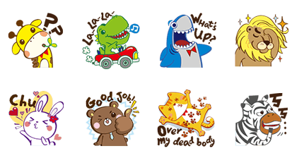 Puzzle Folks Zoo Line Sticker GIF & PNG Pack: Animated & Transparent No Background | WhatsApp Sticker