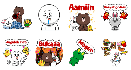 Ramadhan Pop-Up Stickers Line Sticker GIF & PNG Pack: Animated & Transparent No Background | WhatsApp Sticker