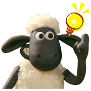 Shaun the Sheep Animated Stickers Sticker for LINE & WhatsApp | ZIP: GIF & PNG