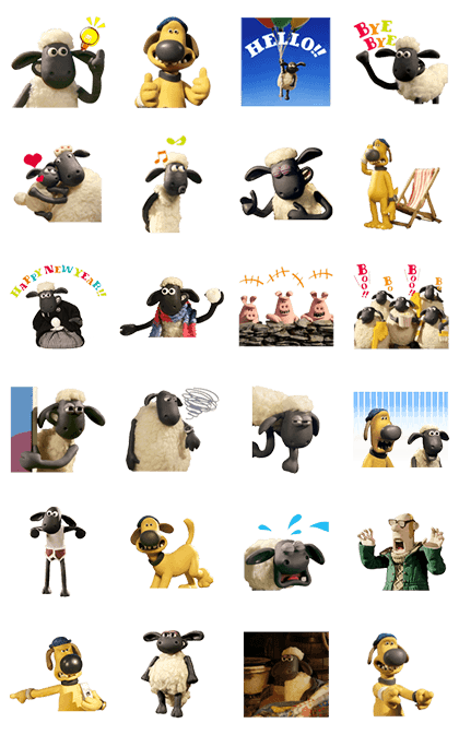 Shaun the Sheep Animated Stickers Line Sticker GIF & PNG Pack: Animated & Transparent No Background   WhatsApp Sticker