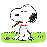 Snoopy × Pocky It's Go Time! Sticker for LINE & WhatsApp | ZIP: GIF & PNG