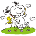 Snoopy's Day Out (Pocky) Sticker for LINE & WhatsApp | ZIP: GIF & PNG