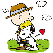 Snoopy's Day Out (Pretz) Sticker for LINE & WhatsApp | ZIP: GIF & PNG