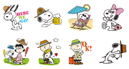 Snoopy's Day Out (Pretz) Line Sticker GIF & PNG Pack: Animated & Transparent No Background | WhatsApp Sticker