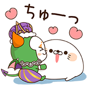 Stinging Tongue Seal x Summoners War Sticker for LINE & WhatsApp | ZIP: GIF & PNG