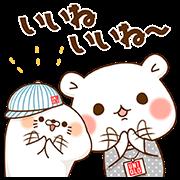 Stinging Tongue Seal + Vulgar bear × UNIQLO Sticker for LINE & WhatsApp | ZIP: GIF & PNG