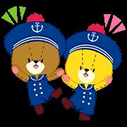 TINY TWIN BEARS:LULU & LOLO Sticker for LINE & WhatsApp | ZIP: GIF & PNG