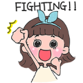 Toki Choi's Fighting Life! Sticker for LINE & WhatsApp | ZIP: GIF & PNG