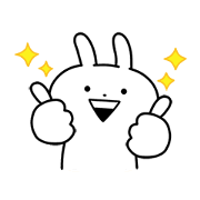 USAGYUUN 2020 Sticker for LINE & WhatsApp | ZIP: GIF & PNG
