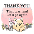 Winnie the Pooh Message Stickers