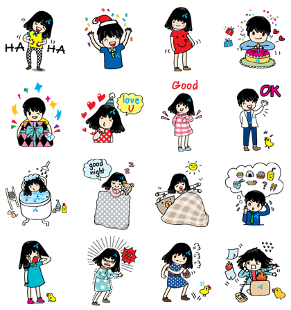 dtac Celebration Line Sticker GIF & PNG Pack: Animated & Transparent No Background | WhatsApp Sticker