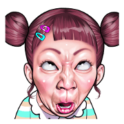 funny face Collection Sticker for LINE & WhatsApp | ZIP: GIF & PNG