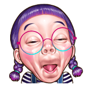 funny face Collection 2 Sticker for LINE & WhatsApp | ZIP: GIF & PNG