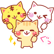 A lot of cats. Pop-Up Stickers Vol. 3 Sticker for LINE & WhatsApp | ZIP: GIF & PNG