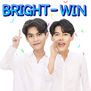 BRIGHT: WIN Sticker for LINE & WhatsApp | ZIP: GIF & PNG