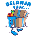 #BagiBagiKebahagiaan Sticker for LINE & WhatsApp | ZIP: GIF & PNG