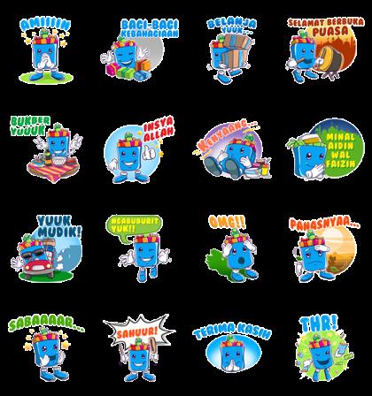 #Bagi Bagi Kebahagiaan Line Sticker GIF & PNG Pack: Animated & Transparent No Background | WhatsApp Sticker