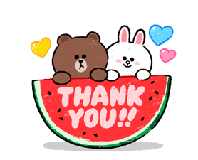 Brown & Cony in Love Sticker for LINE & WhatsApp | ZIP: GIF & PNG