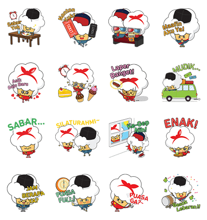 CGV Paconnie Ramadhan Line Sticker GIF & PNG Pack: Animated & Transparent No Background | WhatsApp Sticker