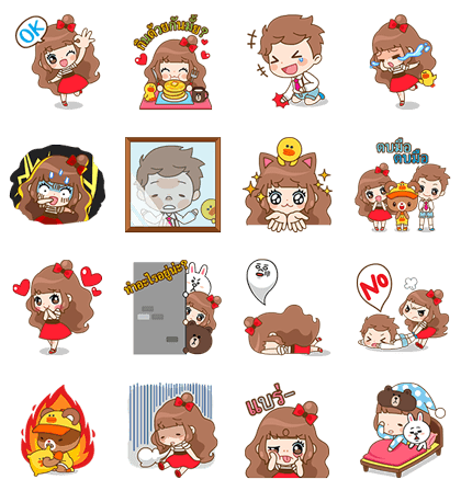 Cherry and Friends | 5307 Line Sticker GIF & PNG Pack: Animated & Transparent No Background | WhatsApp Sticker