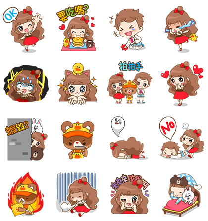 Cherry and Friends | 4982 Line Sticker GIF & PNG Pack: Animated & Transparent No Background | WhatsApp Sticker