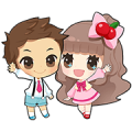 Cherry's Precocious Stickers Sticker for LINE & WhatsApp | ZIP: GIF & PNG