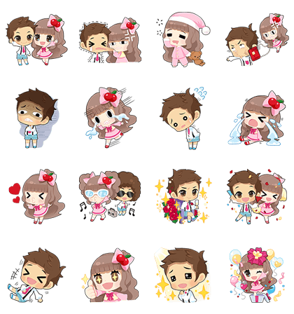 Cherry's Precocious Stickers Line Sticker GIF & PNG Pack: Animated & Transparent No Background | WhatsApp Sticker