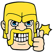Clash of Clans Sticker for LINE & WhatsApp | ZIP: GIF & PNG