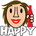 Coca-Cola Emotions Sticker for LINE & WhatsApp | ZIP: GIF & PNG